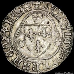 Louis XI (1461-1483) - Blanc - Montpelli...