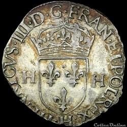 Henri III (1574-1589) - Douzain - 1577 H La Rochelle