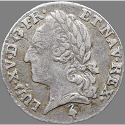 Louis XVI - Vingtième d'écu aux branches d'olivier au nom de Louis XV - 1779 A Paris