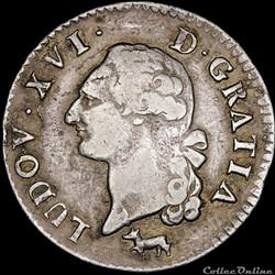 Louis XVI - Sol à l'écu argenté - 1782 R Orléans