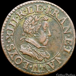 CGKL 388 - Louis XIII - Double tournois 1620 A Paris