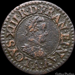 CGKL 400 - Louis XIII - Denier tournois 1612 A Paris