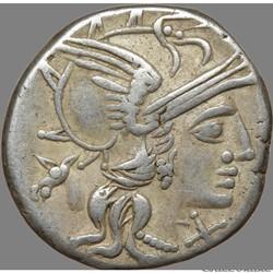 Gens Junia - Denier - Marcus Junius Silanus (c.174 av. J.C)