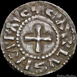 Charles II le Chauve (843-877) - Denier - Nevers