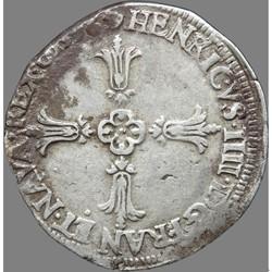 Henri IV - Quart d'écu, croix feuillue d...