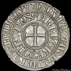 Charles VI (1380-1422) - Gros aux lis so...