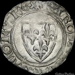 Charles VI (1380-1422) - Blanc - Saint-P...