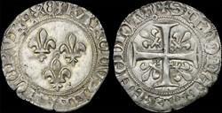 """Charles VII (1422-1461) - Blanc """"aux tro..."""