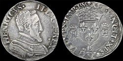 Henri II - Demi-teston - 1555 B Rouen