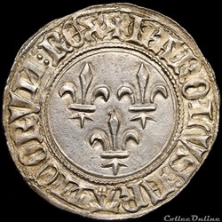 Charles VI (1380-1422) - Gros aux lis - ...