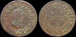 CGKL 90 - Henri III - Denier tournois 15...