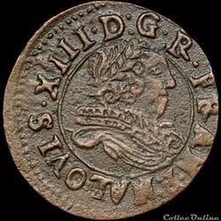 CGKL 510 - Louis XIII - Denier tournois 1635 Saint-Palais