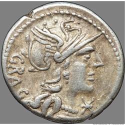 Gens Antestia - Denier - L. Antestius Gragulus (c.124 av. J.C)