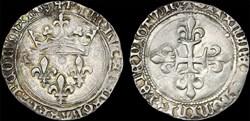 "Charles VII (1422-1461) - Gros ""de Roi"" ..."