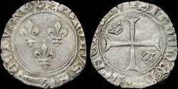 "Charles VII (1422-1461) - Petit blanc ""a..."