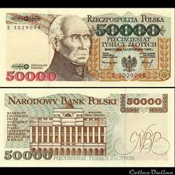 POLOGNE - PICK 159 A - 50 000 ZLOTYCH - 1993