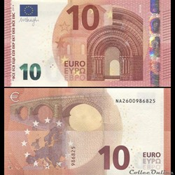 10 EUROS - SIGNATURE DRAGHI - PICK 21 N ...