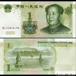 CHINE - PICK 895 a - 1 YUAN 1999