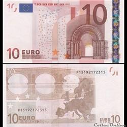 10 EUROS - SIGNATURE TRICHET - PICK 9 P ...