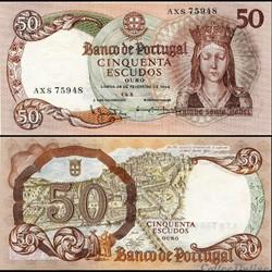 PORTUGAL - PICK 168 a 1 - 50 ESCUDOS - 1964