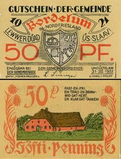 Bordelum 50 Pfennig
