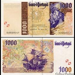 PORTUGAL - PICK 188 d 2 - 1000 ESCUDOS - 2000