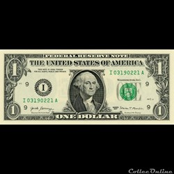I- 1$ Federal Reserve Notes - Small Size...