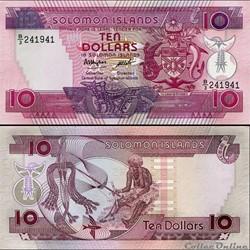 ILES SALOMON - PICK 15a - 10 DOLLARS - 1...