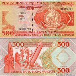 VANUATU - PICK 5 a 2 - 500 VATU - 1993