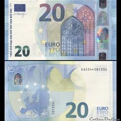 20 EUROS - SIGNATURE DRAGHI - PICK 22 E ...