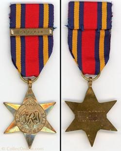 Médaille Burma Star (1939-1945 )- Royaum...