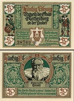 Rothenburg ob der Tauber 50 Pfennig 2b 1...