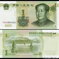CHINE - PICK 895 d - 1 YUAN 1999