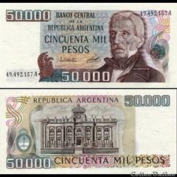 ARGENTINE - PICK 307 a 1 - 50 000 PESOS ...