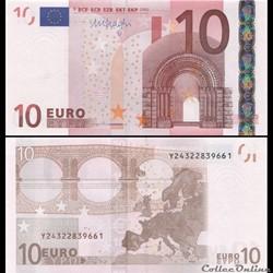 10 EUROS - SIGNATURE DRAGHI - PICK 15 Y ...