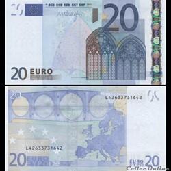 20 EUROS - SIGNATURE DRAGHI - PICK 16 L ...