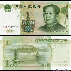 CHINE - PICK 895 b - 1 YUAN 1999