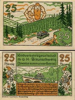 Braunschweig Kraftverkehr 25 pf