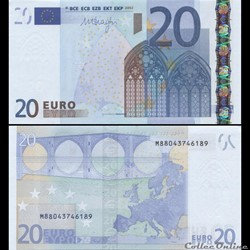 20 EUROS - SIGNATURE DRAGHI - PICK 16 M - PORTUGAL