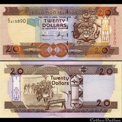 ILES SALOMON - PICK 28 a 2 - 20 DOLLARS ...