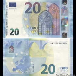 20 EUROS - SIGNATURE DRAGHI - PICK 22 R ...
