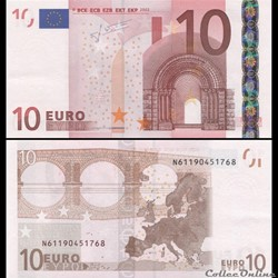 10 EUROS - SIGNATURE TRICHET - PICK 9 N ...