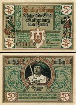 Rothenburg ob der Tauber 50 Pfennig 2b 2...