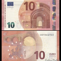 10 EUROS - SIGNATURE DRAGHI - PICK 21 U - FRANCE