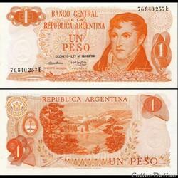 ARGENTINE - PICK 293 a - 1 PESO - 1974