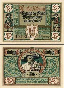 Rothenburg ob der Tauber 50 Pfennig 2b 3...
