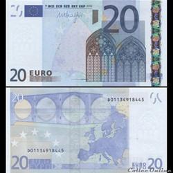 20 EUROS - SIGNATURE DRAGHI - PICK 16 D ...