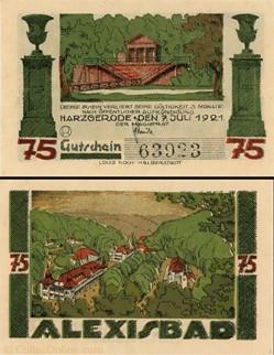 Harzgerode - 75 Pfennig