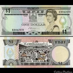 FIDJI - PICK 086 a - 1 DOLLAR - 1983