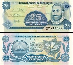 NICARAGUA - PICK 170 a1  - 25 CENTAVOS -...
